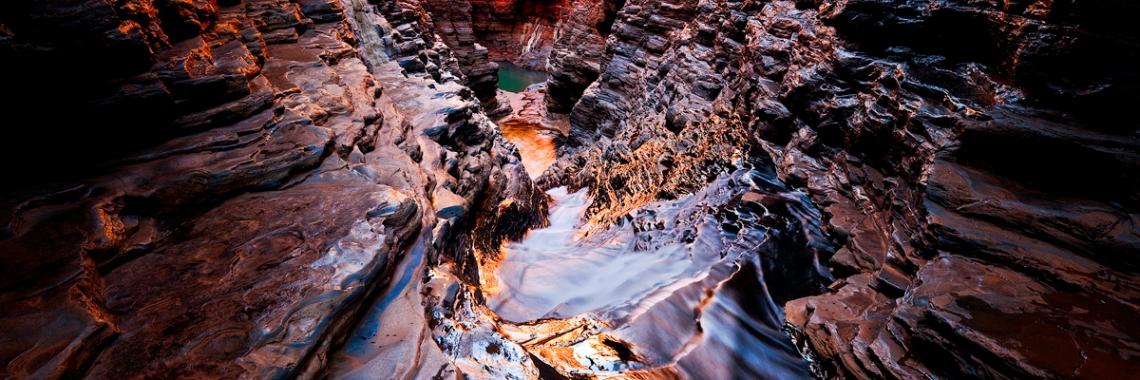 Slide - Karijini National Park, Western Australia